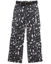 Bottoms - LEOPARD PRINT CARGO PANTS (8-20)