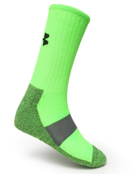 Under Armour Performance Crew Socks Lime Green Large