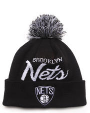 Mitchell & Ness - Brooklyn Nets NBA Script Cuffed Knit Hat