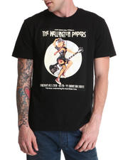 Men - Black Apple Vintage Pinup Graphic T-Shirt