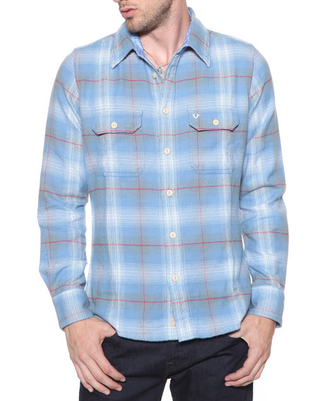 Djp Outlet - Men Blue Lumberjack Flannel - $76.99