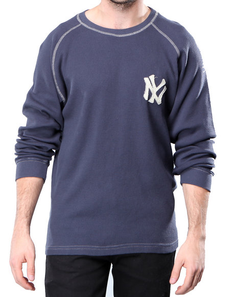 Djp Outlet - Men  Red Jacket New York Yankees Fahrenheit L/S Thermal