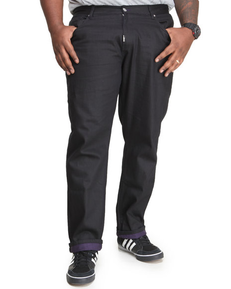 LRG - Men Black Uncut True - Straight Jeans (B & T)