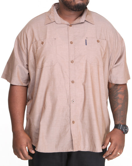 Ecko Brown Solid Arity S/S Button-Down (Big & Tall)