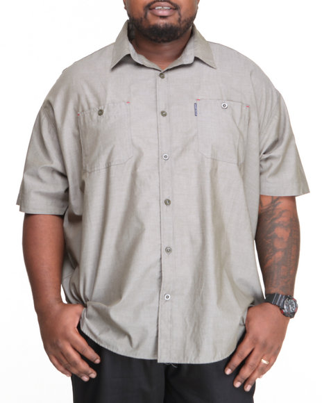 Ecko Green Solid Arity S/S Button-Down (Big & Tall)