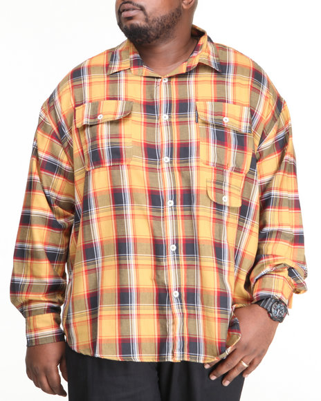 Ecko Yellow Fool's Gold L/S Button-Down (Big & Tall)