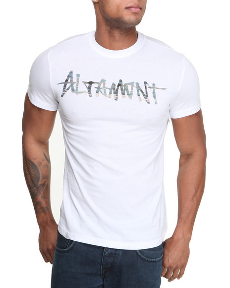 Altamont White Paint By Camo Logo Tee