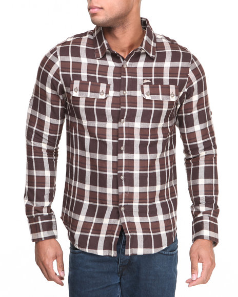 A Tiziano Brown Joshua Brushed L/S Button-Down