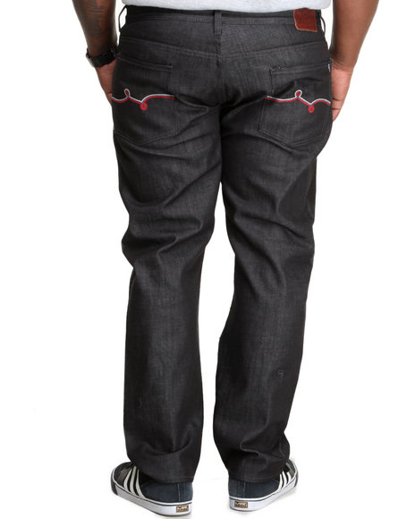 LRG - Men Black Track & Feel True - Straight Denim Jeans (B & T)