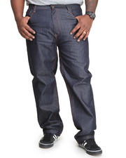 MO7 - Mo7 Contrast Stitch straight fit Raw denim jeans