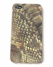 Electronics - Lime Snake Print Premium Leather Iphone Sticker