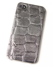 Electronics - Pewter Premium Leather Iphone Sticker