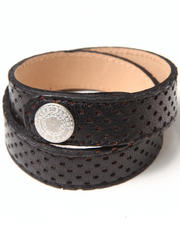 Bracelets - Perforated Leather Strap