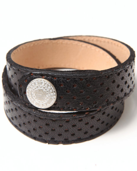 Djp Outlet Women Perforated Leather Strap Black - $20.00