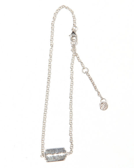 Djp Outlet Women Razor Blade Chain Bracelet Silver
