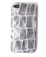 Accessories - Silver Boa Premium Leather Iphone Sticker