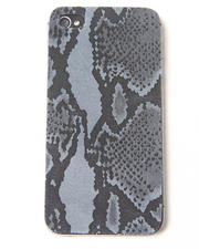 Accessories - Grey Python Premium Leather Iphone Sticker