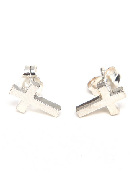 Djp Outlet Women Cross Stud Earring Silver - $45.99