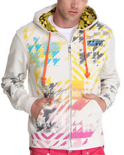 Hoodies - Lord Baltimore Max Multi Print/Embroidery/ Patch Zip up Hoodie