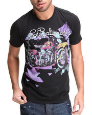 Men - Lord Baltimore Neon Harley Flocked Tee