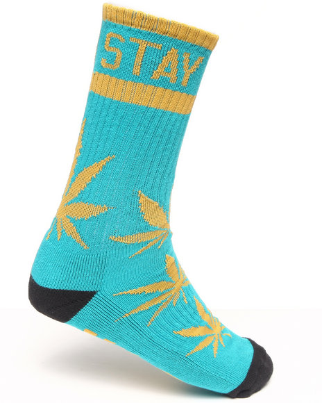 Dgk Stay Smokin' Crew Socks Blue