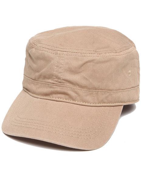 Drj Accessories Shoppe Men Tom Chino Military Cap Khaki