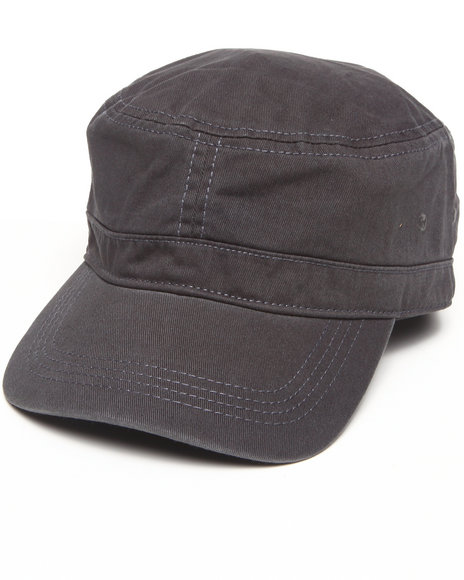 Drj Accessories Shoppe Men Mack Chino Military Cap Grey