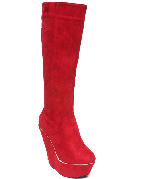 Fashion Lab - Numeria Wedge Boot w/Faux Suede