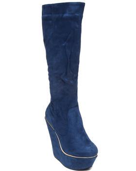 Fashion Lab - Numeria Wedge Boot w/faux suede