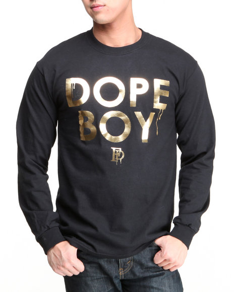 Filthy Dripped Black Dope Boy Foil L/S T-Shirt