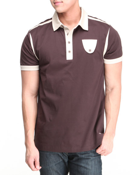 A Tiziano Brown Diego Knit Polo
