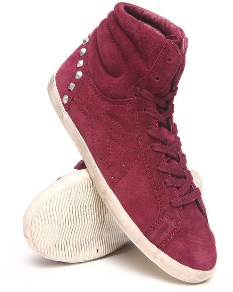 High Top Sneakers in Maroon
