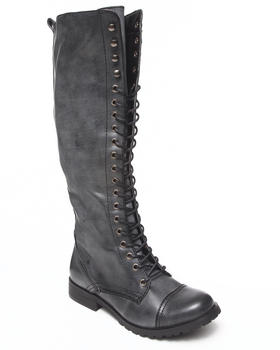 Fashion Lab - Lace up high boot