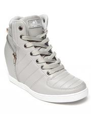 Apple Bottoms - Planey Zip Trim Wedge Sneaker