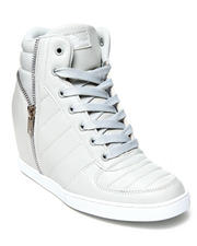 Apple Bottoms - Planey Zip Trim Wedge Sneaker