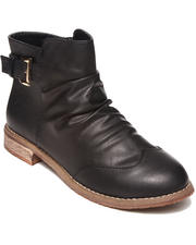 Women - Danna Bootie w/Wing Tip and Buckle