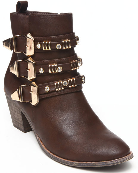 Fashion Lab - Tria Boot w/buckle detail