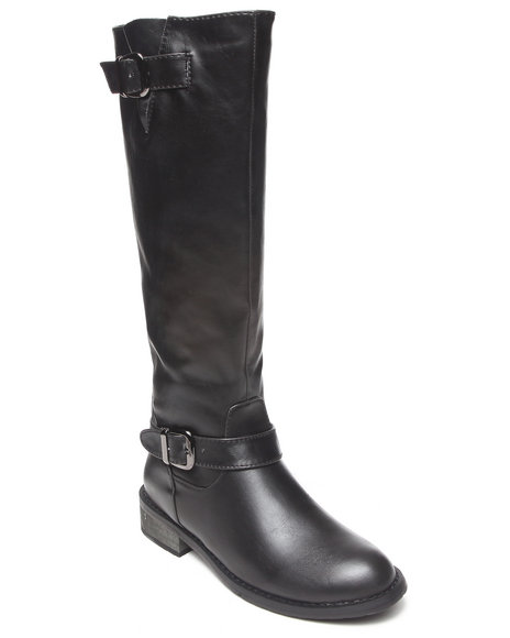 Fashion Lab - Women Black Beatty Pullover Riding Boot - $17.99