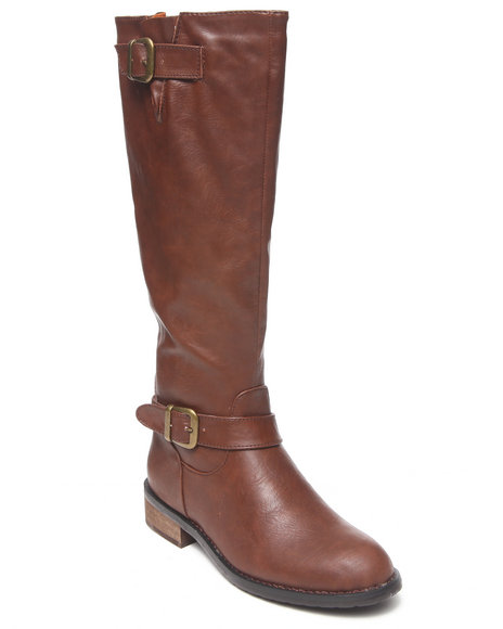 Fashion Lab - Women Brown Beatty Pullover Riding Boot