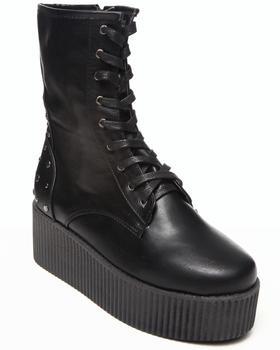 Fashion Lab - Nashira Platform bootie w/studs