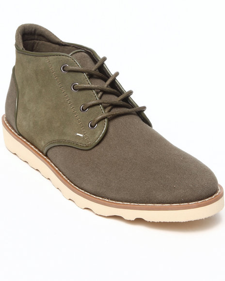 Buyers Picks - Men Green Generic Surplus Dom Suede/Canvas Boot - $49.99