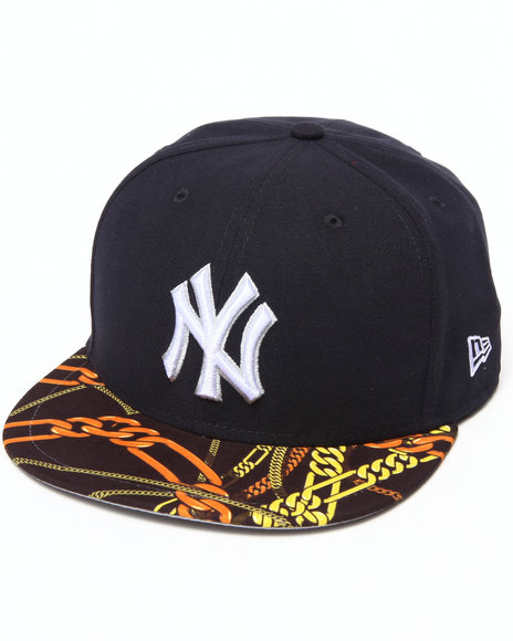 New Era - Men Navy New York Yankees Real Chains 5950 Fitted Hat
