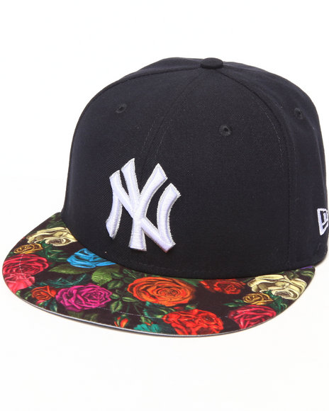 New Era - Men Navy New York Yankees Real Floral 5950 Fitted Hat