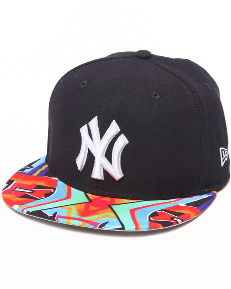 New Era - Men Navy New York Yankees Real Graffiti 5950 Fitted Hat