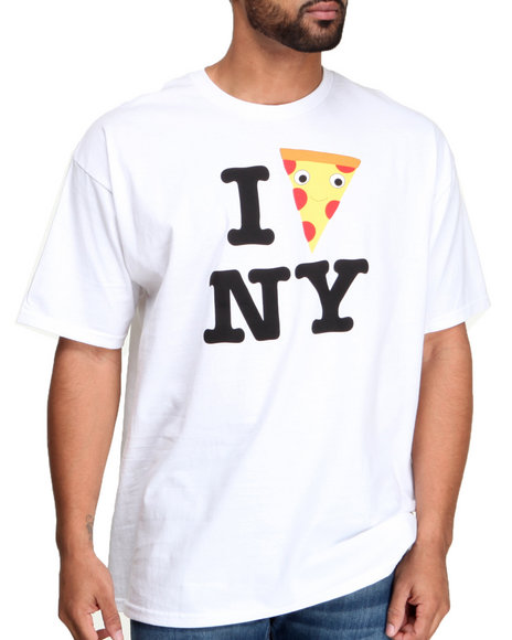 Kid Robot - Men White Yummy Pizza City T-Shirt