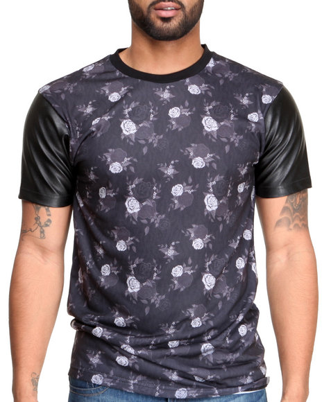 Entree Black Floral Tiger T-Shirt