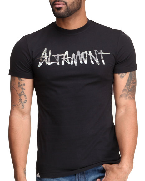 Altamont - Men Black,Camo Paint By Camo Logo Tee