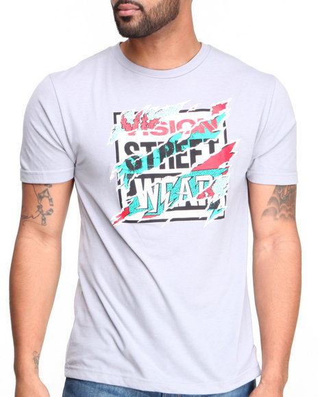 Vision Street Wear Grey Vision Rip Logo Tee