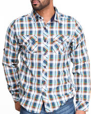 Button-downs - Multi Color Plaid L/S Button down shirt