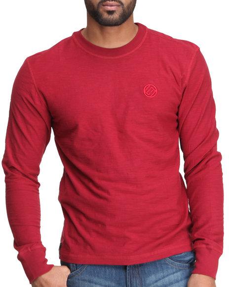 Enyce - Men Red Austin Slub Crew Henley - $11.99